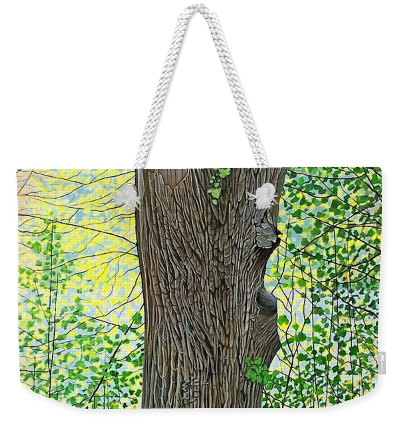 Landscape Weekender Tote Bag featuring the painting Muskoka Maple by Kenneth M Kirsch