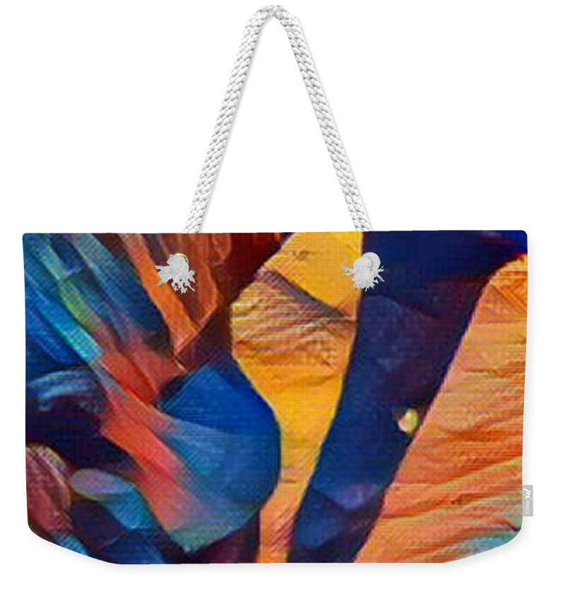 Horse Weekender Tote Bag featuring the digital art Mustang I C by Dreana Stenz