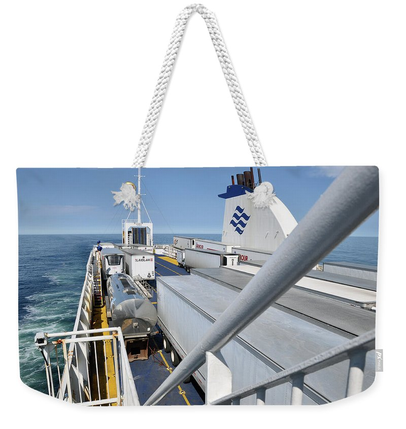 Ferry Weekender Tote Bag featuring the photograph Mv Highlanders by Colleen English