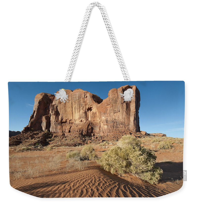 Monument Weekender Tote Bag featuring the photograph Mv Mesa 7328 by Bob Neiman