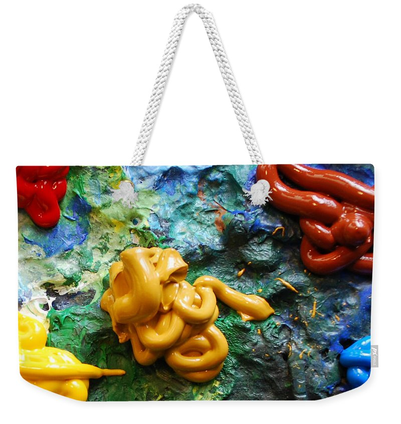 Palette Weekender Tote Bag featuring the photograph My Colorful Palette by Nancy Mueller