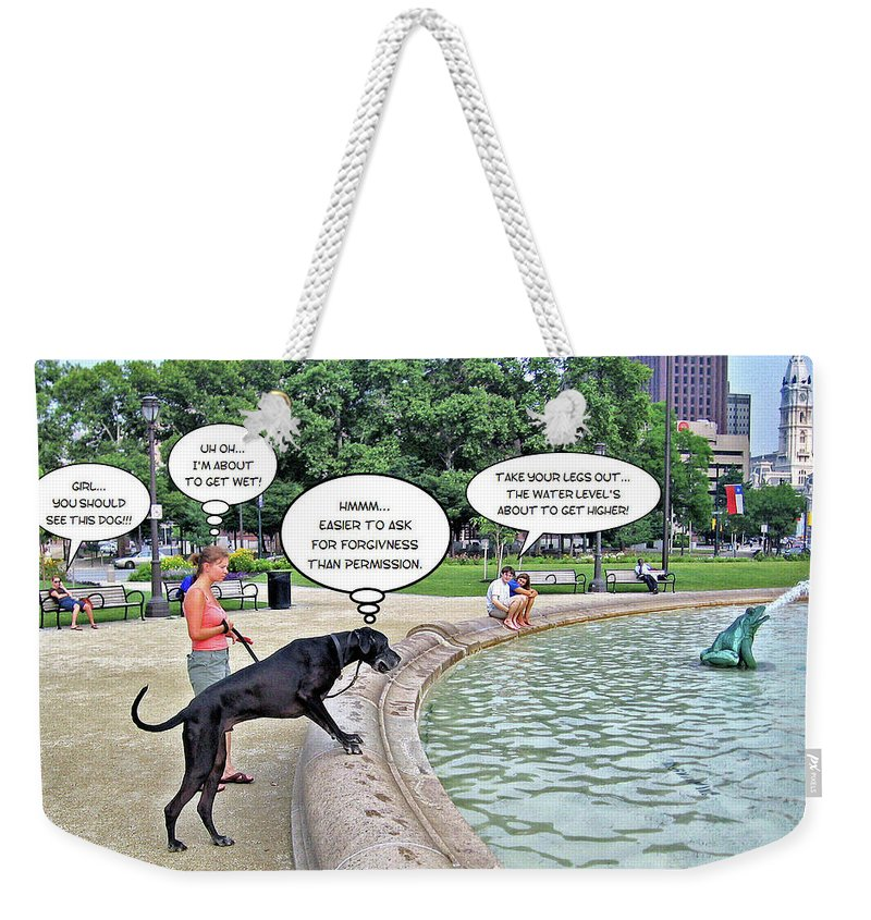 2d Weekender Tote Bag featuring the photograph My Dog Tiny by Brian Wallace