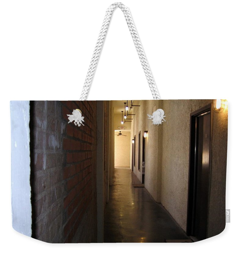 Old Building Weekender Tote Bag featuring the photograph My Door by Amy Hosp