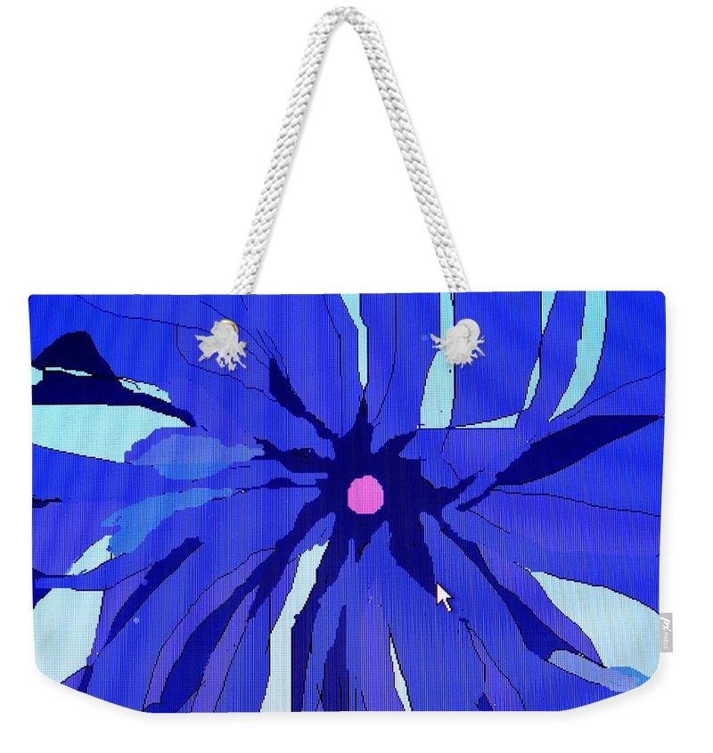 Flower Weekender Tote Bag featuring the digital art My Fantastic Flower by Ian MacDonald