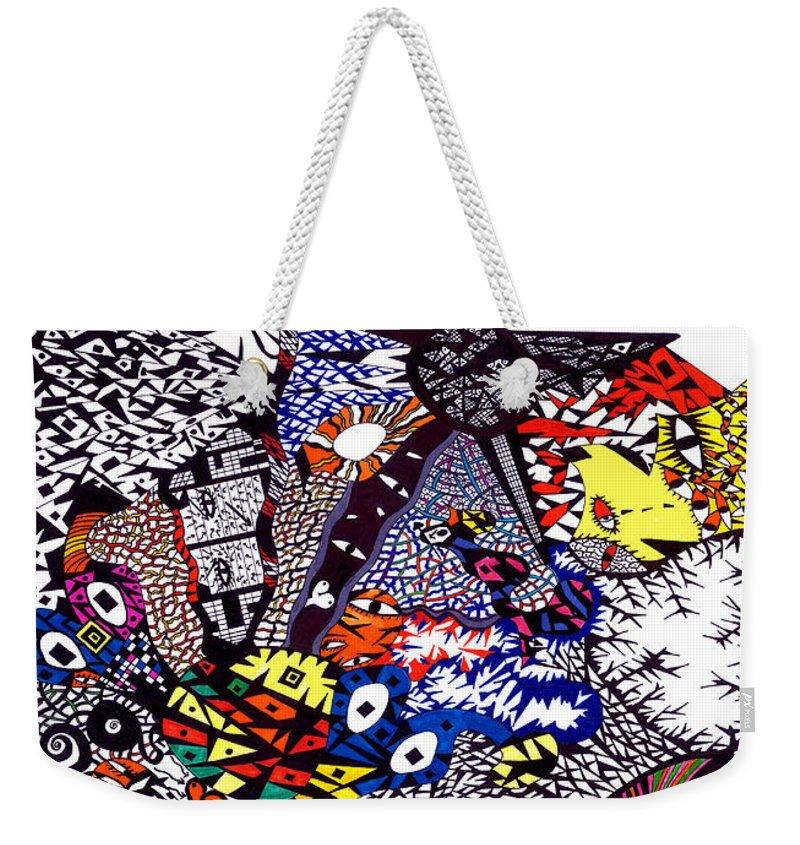 Feelings Weekender Tote Bag featuring the painting My Feelings by Safak Tulga