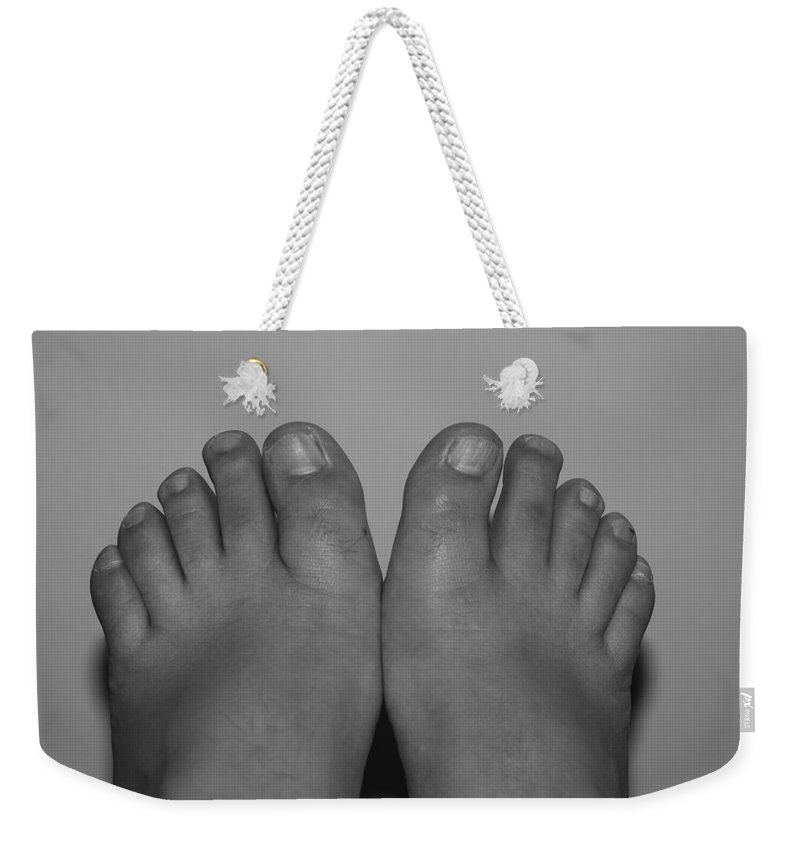 Pop Art Weekender Tote Bag featuring the photograph My Feet By Hans by Rob Hans