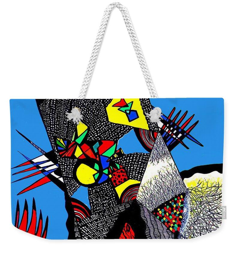 Safak Tulga Weekender Tote Bag featuring the painting My Freedom by Safak Tulga