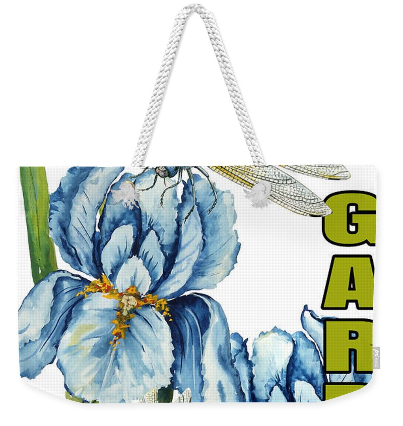 Jean Plout Weekender Tote Bag featuring the painting My Garden-jp2829 by Jean Plout