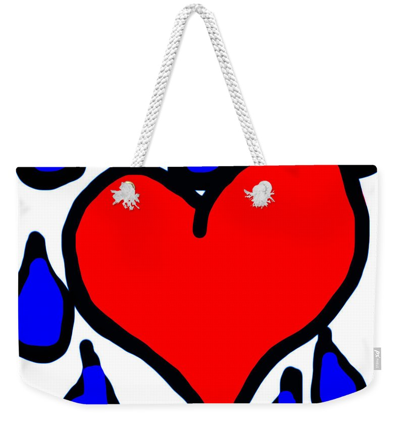 My Weekender Tote Bag featuring the photograph My Heart Is Crying by Heather Joyce Morrill