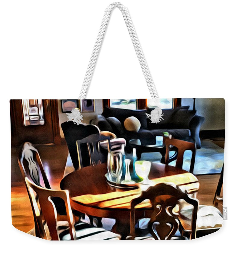 Interior Weekender Tote Bag featuring the photograph My House by Modern Art
