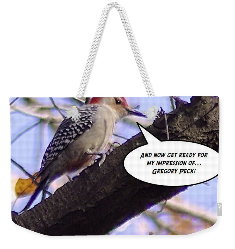 2d Weekender Tote Bag featuring the photograph My Impression by Brian Wallace