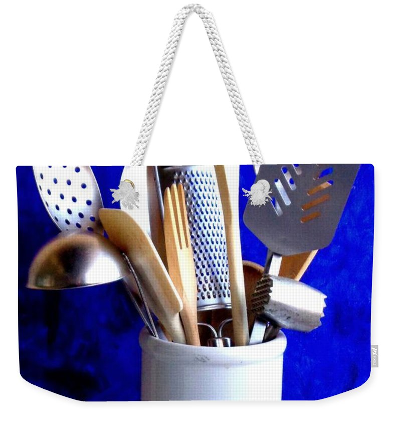 Viva Weekender Tote Bag featuring the photograph My Kitchen Aids by VIVA Anderson
