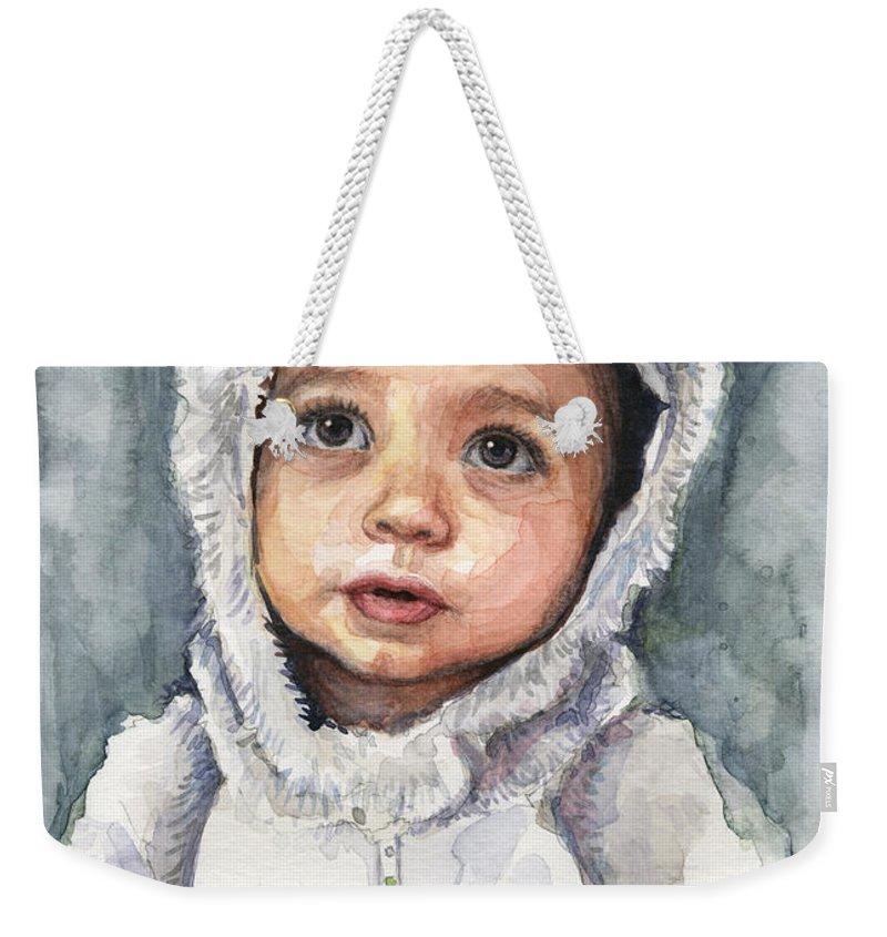 Weekender Tote Bag featuring the painting My Little Koala by Olga Shvartsur