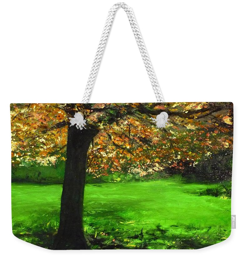 Spiritualism Weekender Tote Bag featuring the painting My Love Of Trees I by Lizzy Forrester