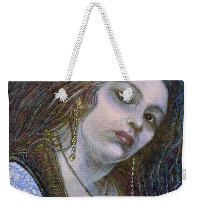 Fantasy Weekender Tote Bag featuring the painting My Mermaid Christan by Otto Rapp