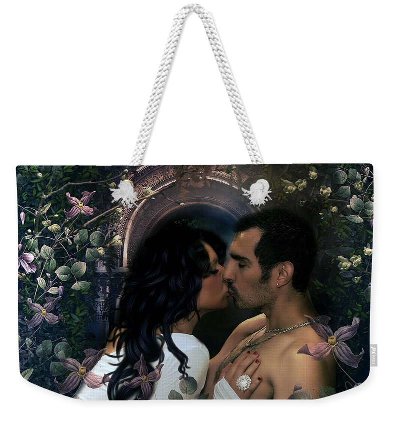 Weekender Tote Bag featuring the mixed media My Only Love by G Berry