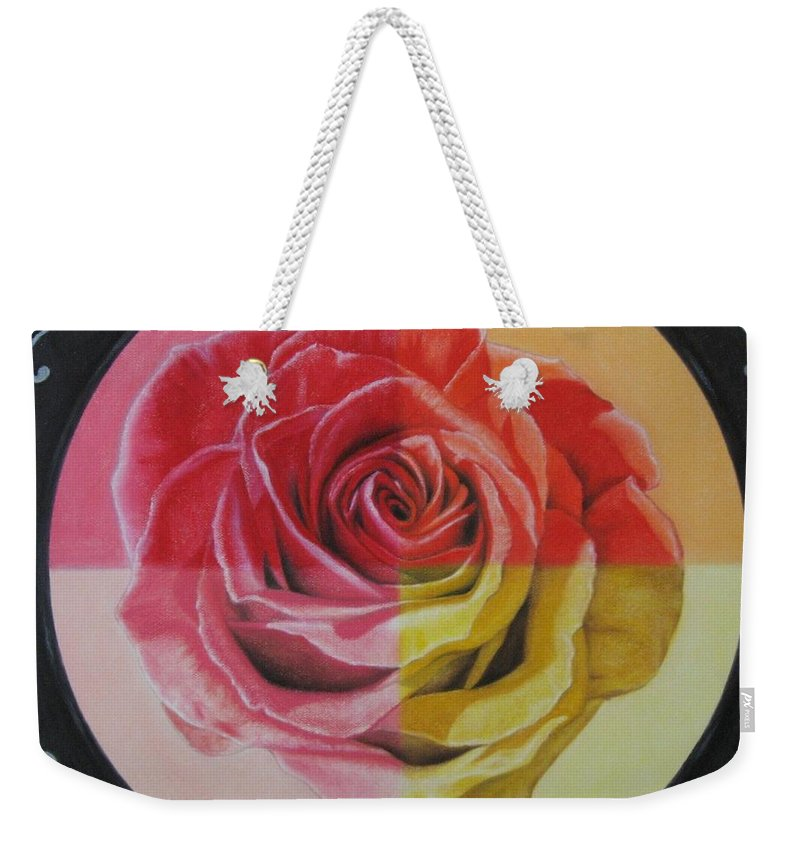 Rose Weekender Tote Bag featuring the painting My Rose by Lynet McDonald