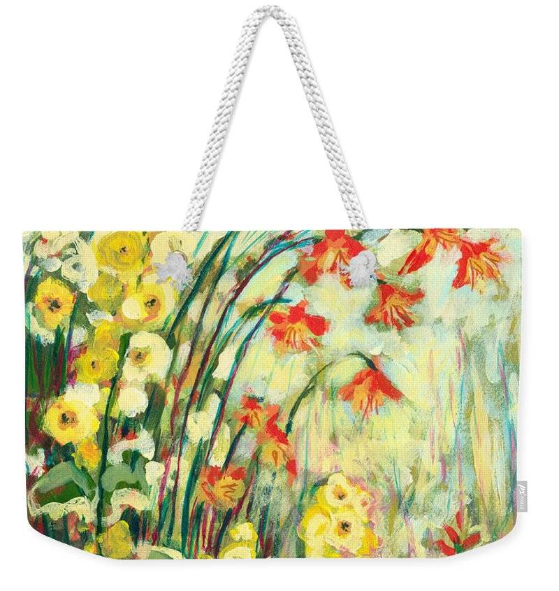 Impressionist Weekender Tote Bag featuring the painting My Secret Garden by Jennifer Lommers