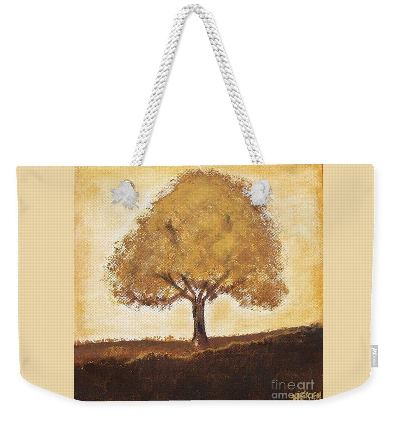Painting Weekender Tote Bag featuring the painting My Tree by Marsha Heiken
