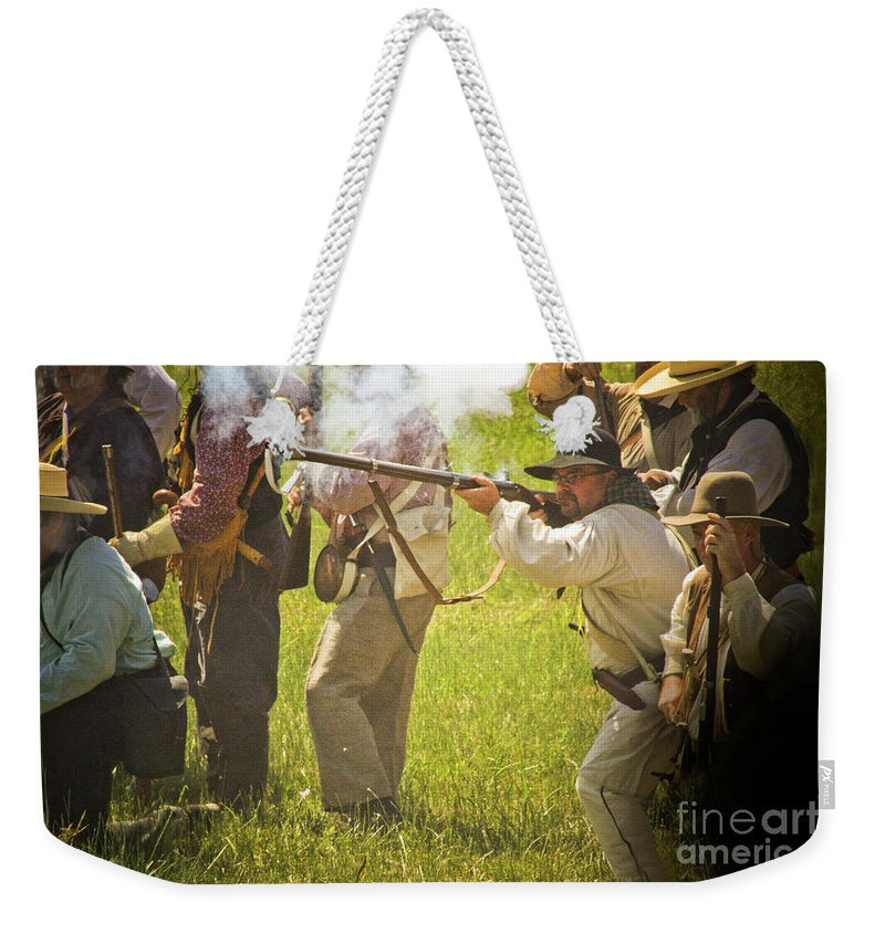 Battle At The San Jacinto Weekender Tote Bag featuring the photograph My Turn by Kim Henderson