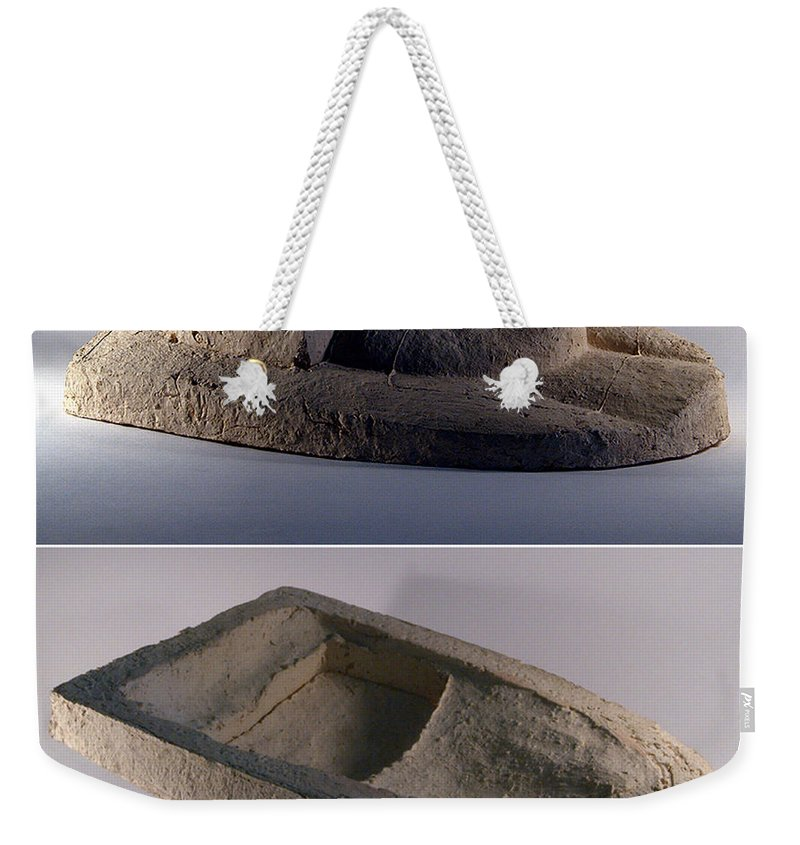 Ceramic Relief Weekender Tote Bag featuring the relief My Veils II by Madalena Lobao-Tello