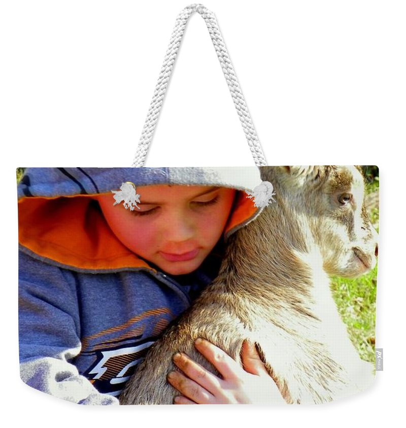 Children Weekender Tote Bag featuring the photograph My Very Own by Karen Wiles