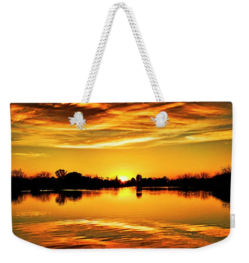 Arizona Weekender Tote Bag featuring the photograph My View by Saija Lehtonen