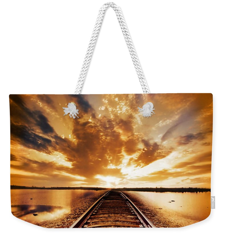 Water Weekender Tote Bag featuring the photograph My Way by Jacky Gerritsen