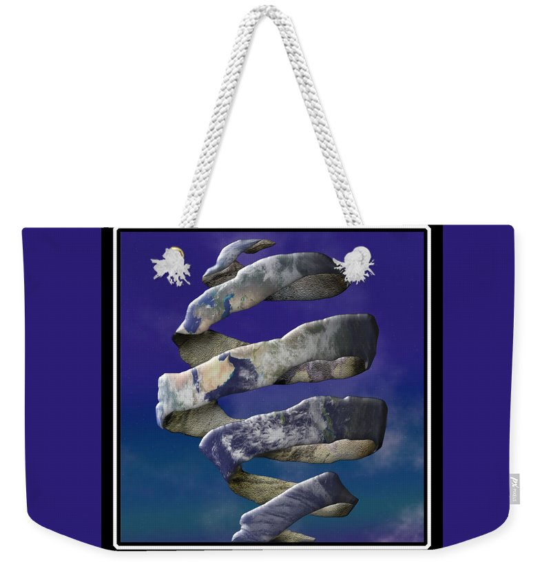 Escher Weekender Tote Bag featuring the digital art My World Is Unraveling by Gravityx9 Designs