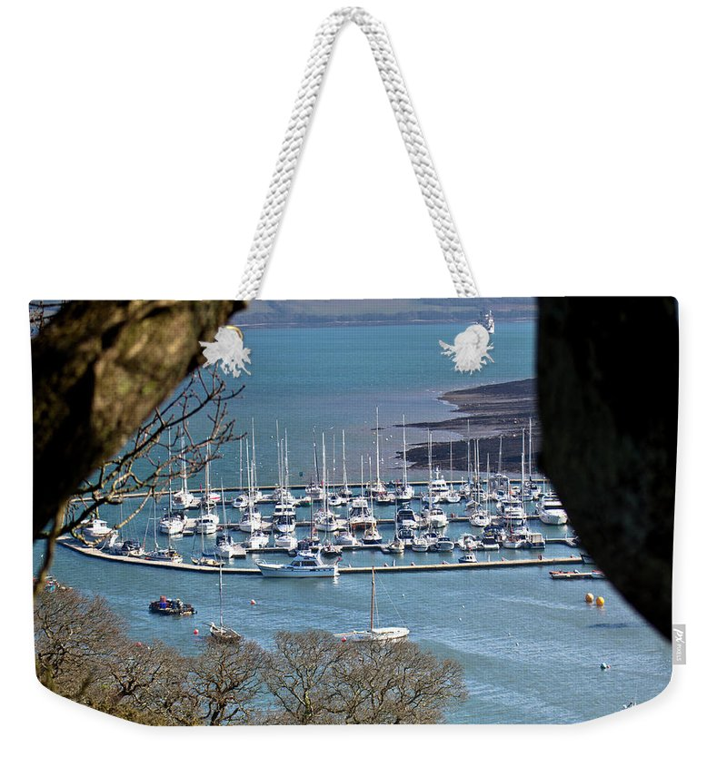 Boats Weekender Tote Bag featuring the photograph Mylor Marina by Brian Roscorla