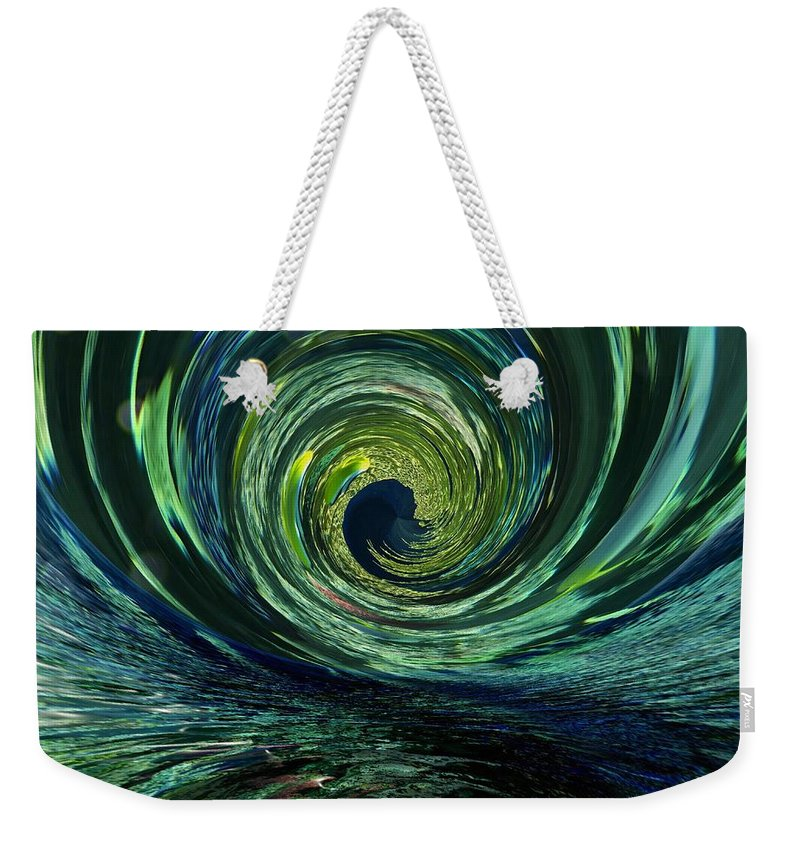Abstract Weekender Tote Bag featuring the photograph Mysterious Wave by Barbara Zahno