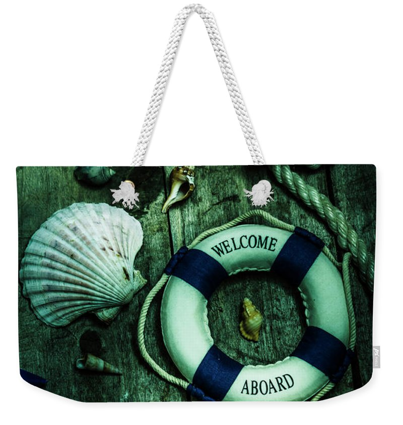Marine Weekender Tote Bag featuring the photograph Mystery Aboard The Sunken Cruise Line by Jorgo Photography - Wall Art Gallery