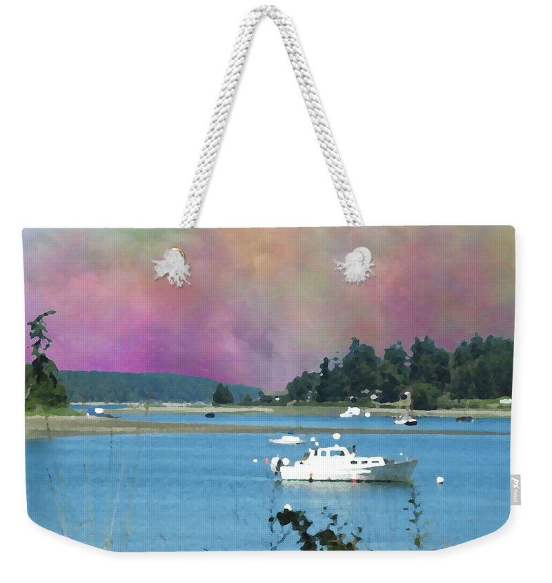 Mystery Bay Weekender Tote Bag featuring the digital art Mystery Bay by Tim Allen