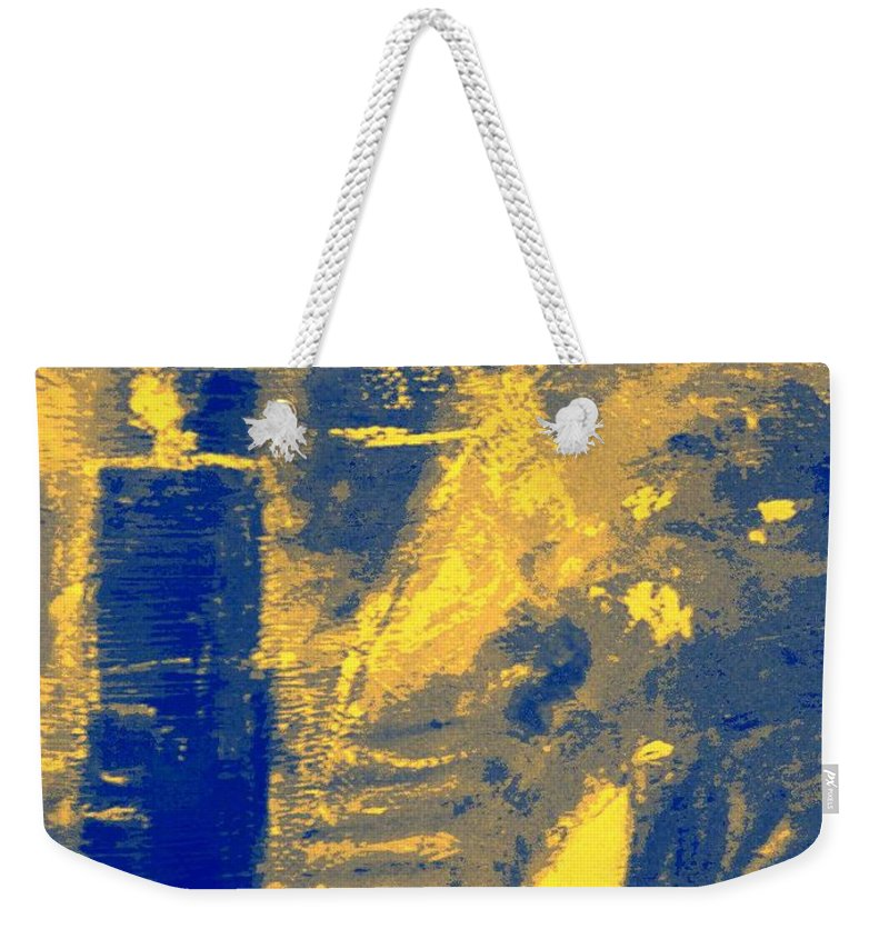 Digital Weekender Tote Bag featuring the painting Mystery Nine II by Philip Okoro