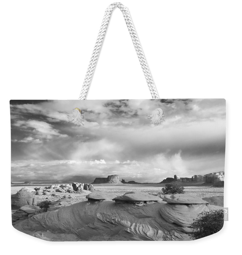 View Weekender Tote Bag featuring the photograph Mystery Valley View 7496 by Bob Neiman