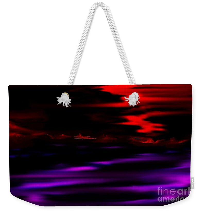 Fantasy Weekender Tote Bag featuring the digital art Mystery World by David Lane
