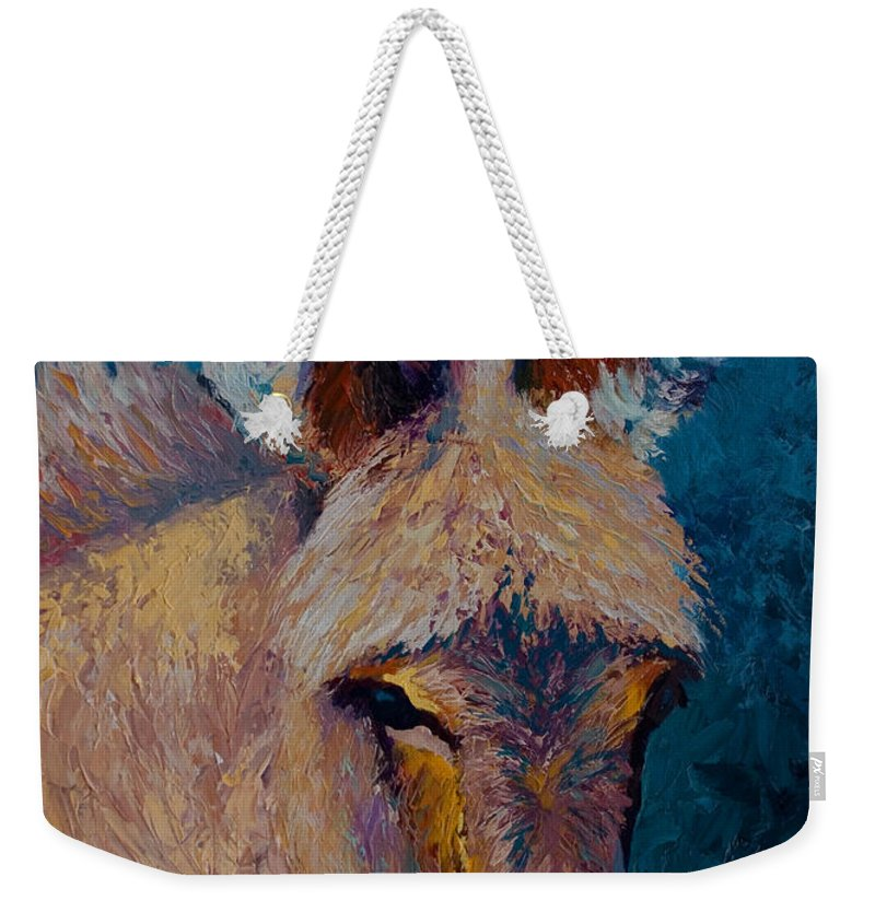 Burro Weekender Tote Bag featuring the painting Mystic by Marion Rose