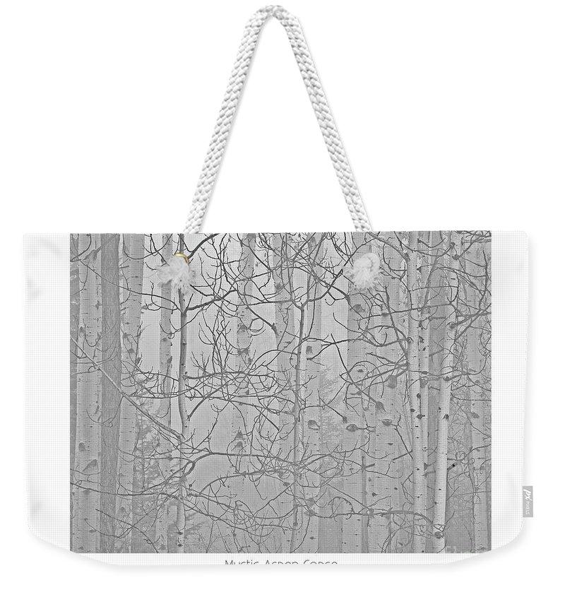 Aspen Weekender Tote Bag featuring the photograph Mystic Aspen Copse by Darrel Giesbrecht