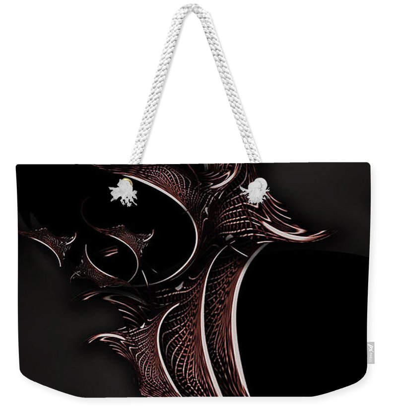 Mystic Weekender Tote Bag featuring the digital art Mystic Experience Constructed by Carmen Fine Art