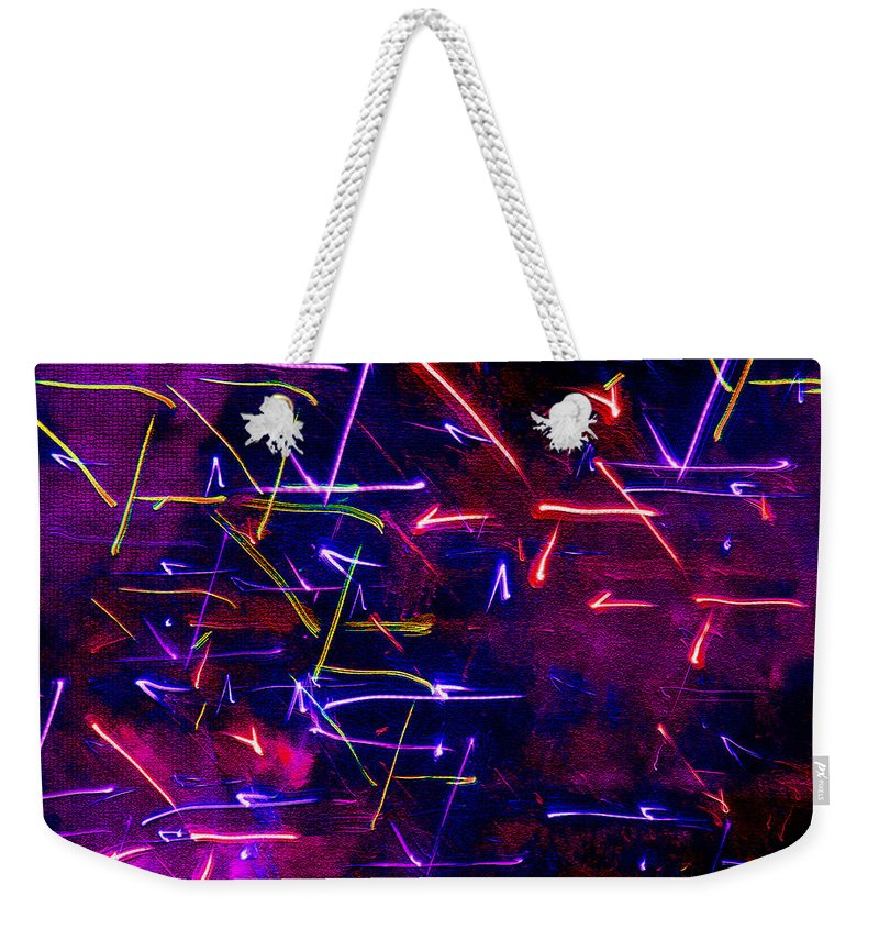 Mystic Lights Weekender Tote Bag featuring the digital art Mystic Lights 8 by Donna Corless
