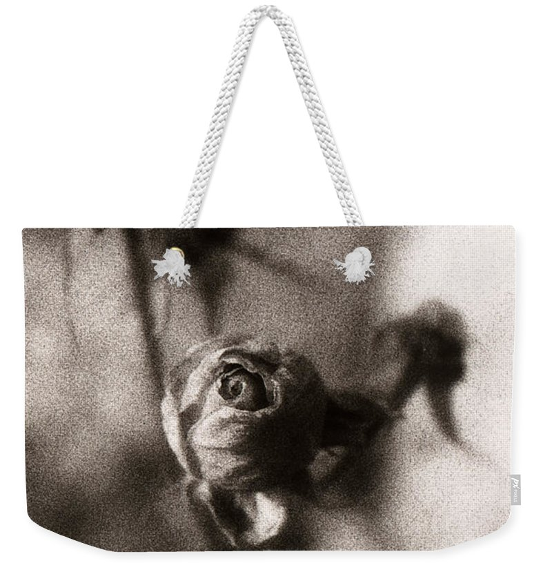 Infrared Weekender Tote Bag featuring the photograph Mystic Rose by Marilyn Hunt