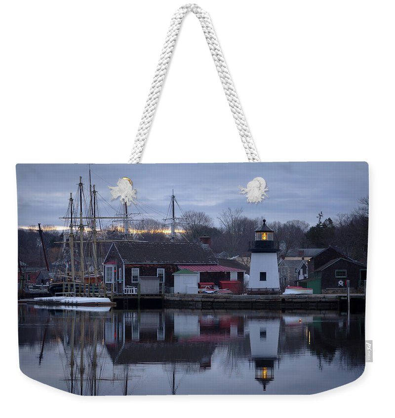 Mystic Seaport Weekender Tote Bag featuring the photograph Mystic Seaport by Kirkodd Photography Of New England