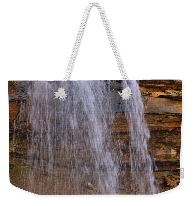 Mystic Weekender Tote Bag featuring the photograph Mystic Waterfall by Douglas Barnett