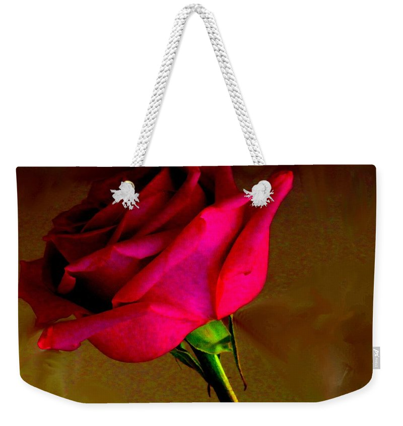 Rose Weekender Tote Bag featuring the photograph Mystical Rose by Ian MacDonald