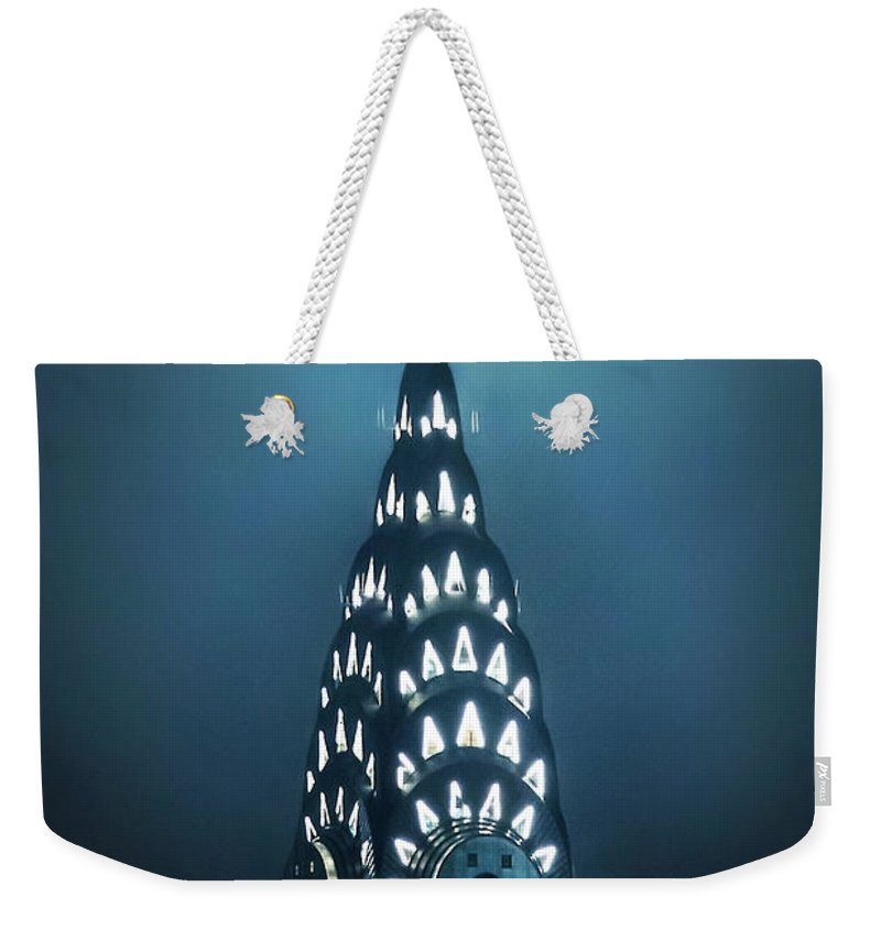 New York City Weekender Tote Bag featuring the photograph Mystical Spires by Az Jackson