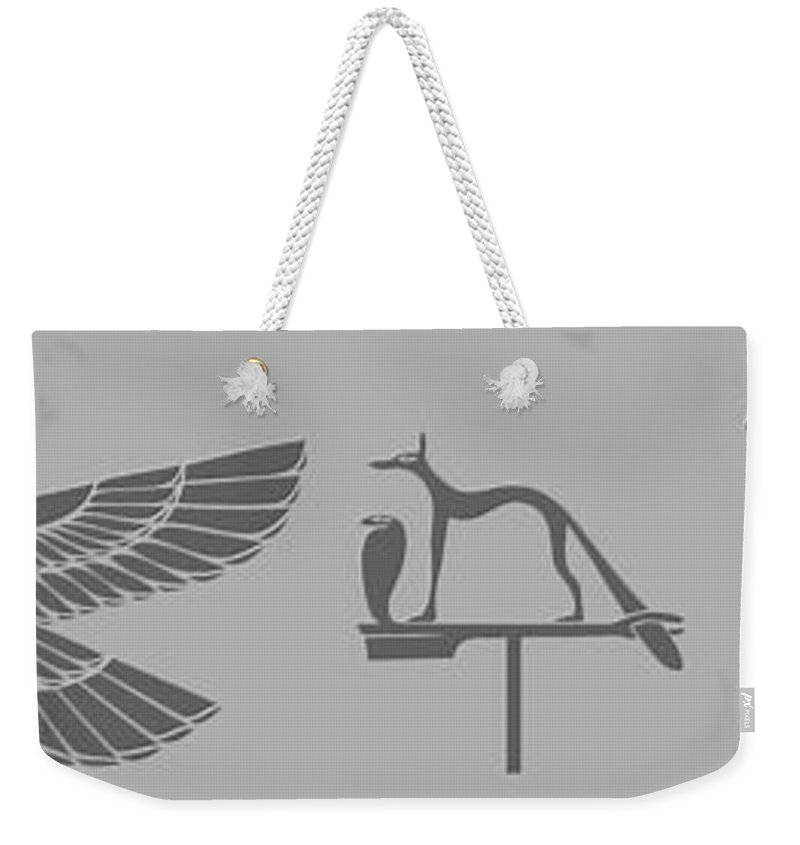Demon Weekender Tote Bag featuring the digital art Mythical Creatures by Michal Boubin