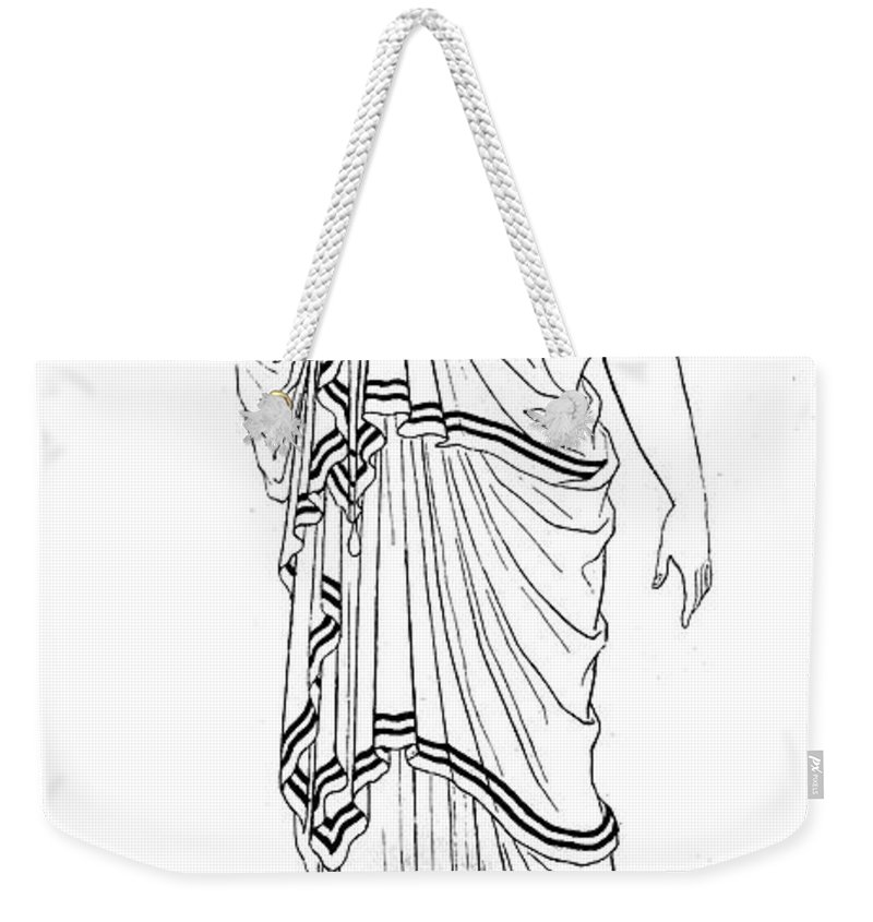 Ancient Weekender Tote Bag featuring the photograph Mythology: Hera/juno by Granger