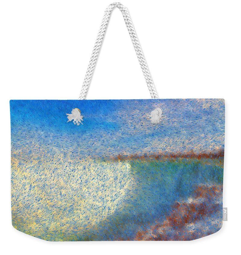 Painting Art Style Weekender Tote Bag featuring the painting Nagara Falls Point Of View by Mario Carini