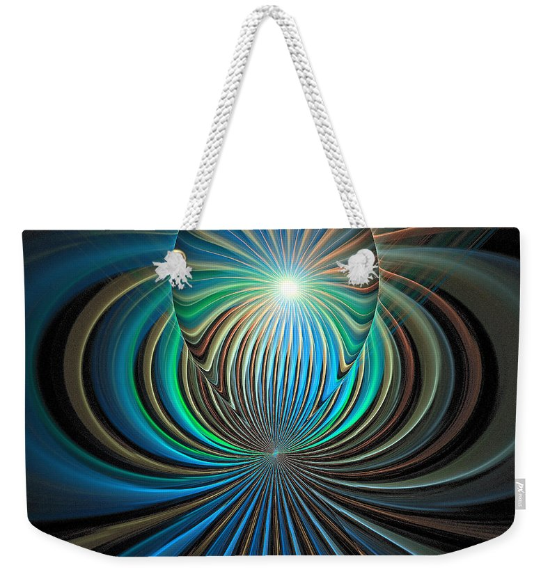 Digital Art Weekender Tote Bag featuring the digital art Namaste by Amanda Moore