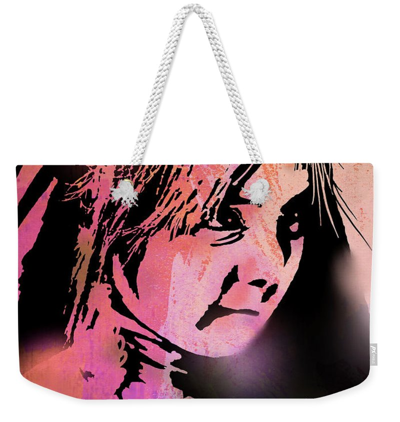 Native Americans Weekender Tote Bag featuring the painting Nambe Girl by Paul Sachtleben